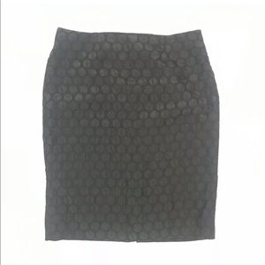 Maeve Anthropologie Black Circle Pattern Skirt